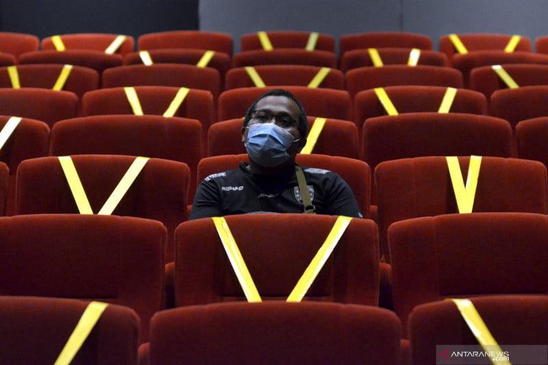 antarafoto hari pertama pembukaan bioskop bali 170921 fik 2